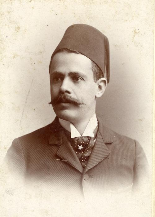 Joseph Oussani at the Chicago Fair, 1893.