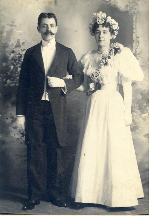 Wedding of Joseph Oussani and Margaret Shea. New York, 1896.
