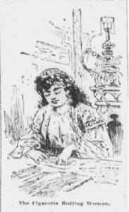 cigarette rolling woman anaconda standard 1898