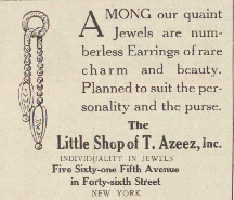 An ad for an earring, 1917.