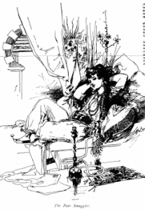 "Selma ""The Fair Smuggler"" in a sketch in the National Police Gazette, 1894."