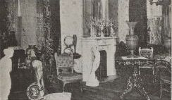 Interior of Abdelnour home on Staten Island, 1902.