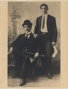 Naoum (left) and Salloum Mokarzel, Brooklyn, NY, ca. 1903