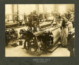 Silk weaving in Pennsylvania, early 1900s.