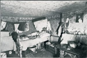 Cubicle in a Washington Street tenement, 1914